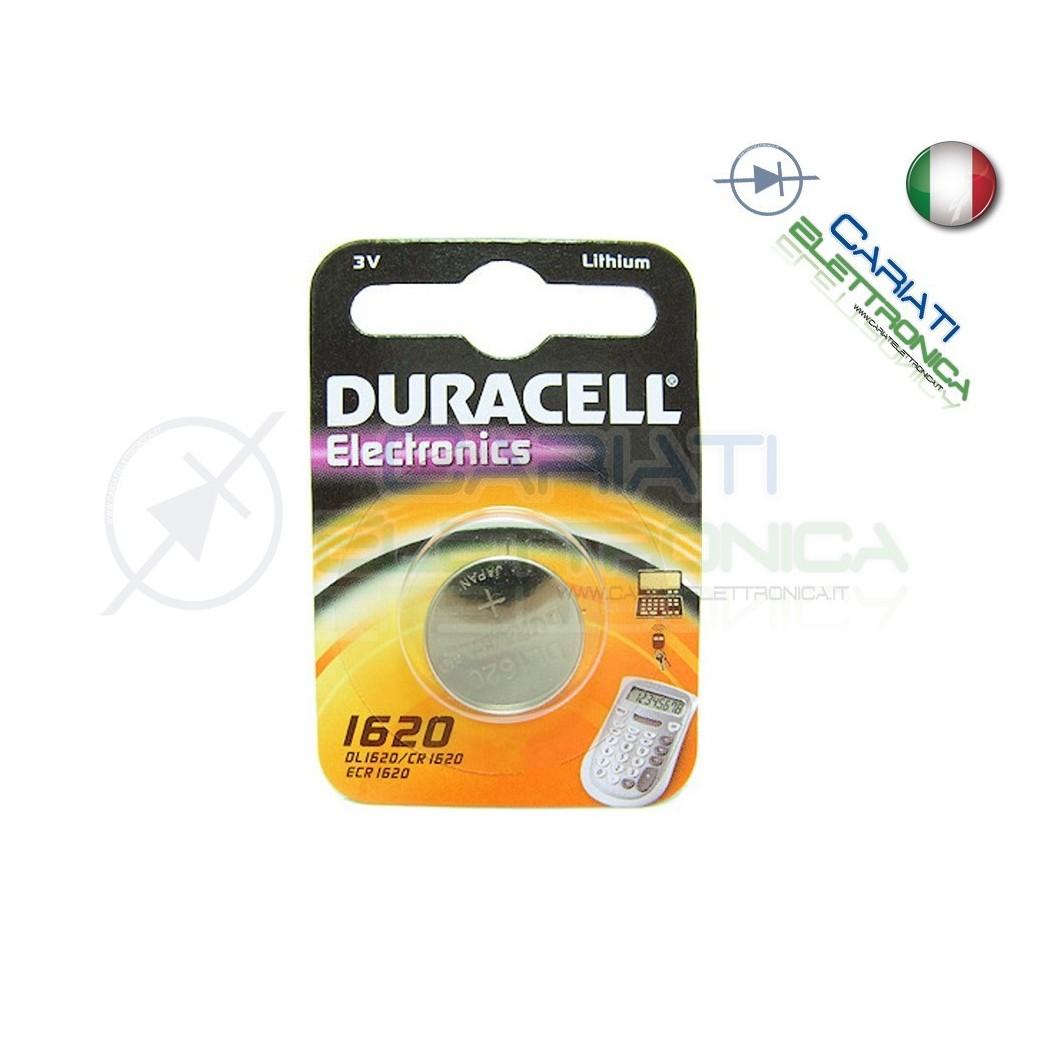BATTERIA DURACELL DL1620 PILA A BOTTONE CR1620 1620Duracell