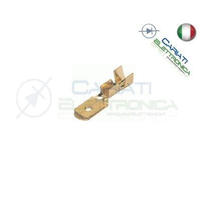 20 PEZZI Faston Maschio 4,8x0,5mm 4,8mm