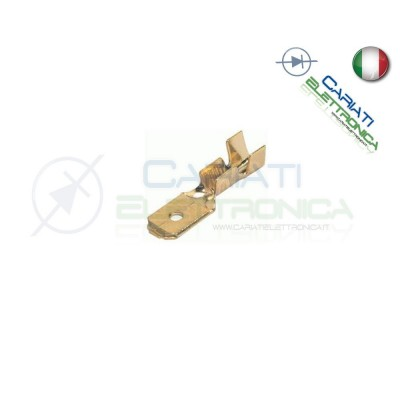 50 PEZZI Faston Maschio 4,8x0,5mm 4,8mm