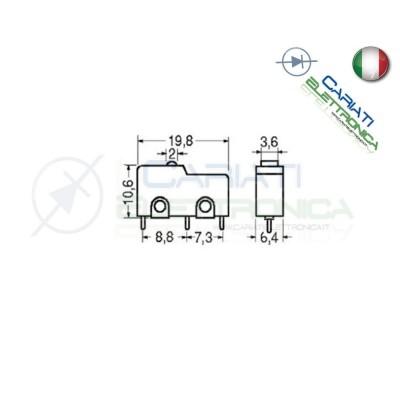 2 PEZZI MicroSwitch a leva Pulsante Fine Corsa Micro Switch PCB  1,00€