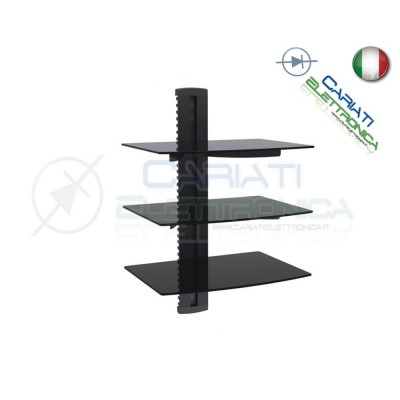 MENSOLA SUPPORTO PER TV DVD XBOX PS3 SKY STEREO AUDIO VIDEO CONSOLE