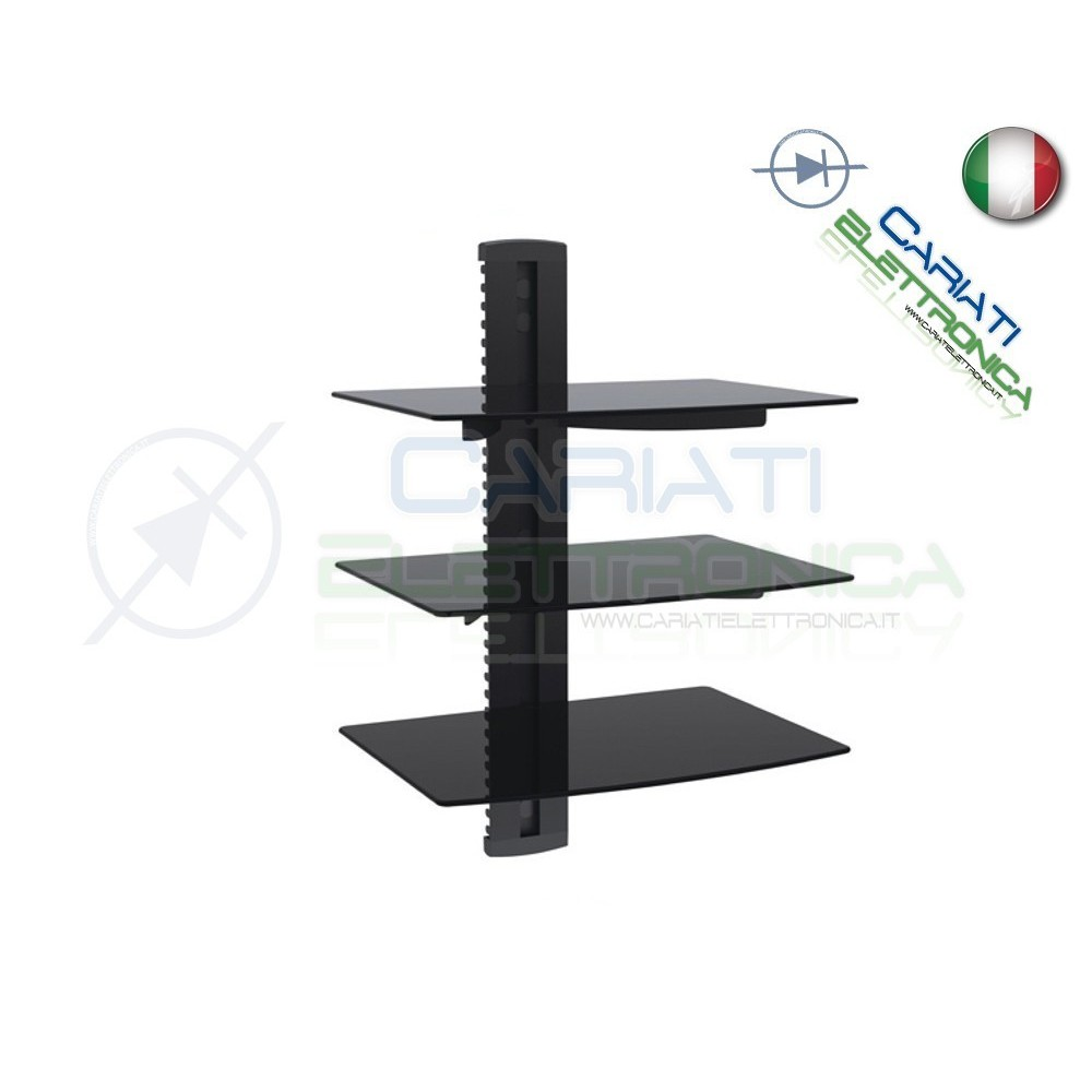 MENSOLA SUPPORTO PER TV DVD XBOX PS3 SKY STEREO AUDIO VIDEO CONSOLE  35,90 €