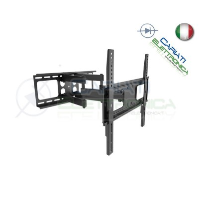 SUPPORTO STAFFA TV LCD TFT LED PLASMA DA 37 A 70 POLLICI 37