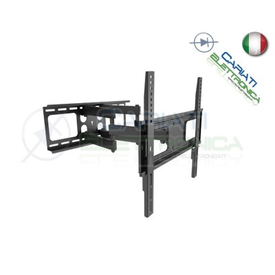 "SUPPORTO STAFFA PARETE MURO TV LCD TFT LED CURVA DA 32 A 55 POLLICI 32"" a 55"""