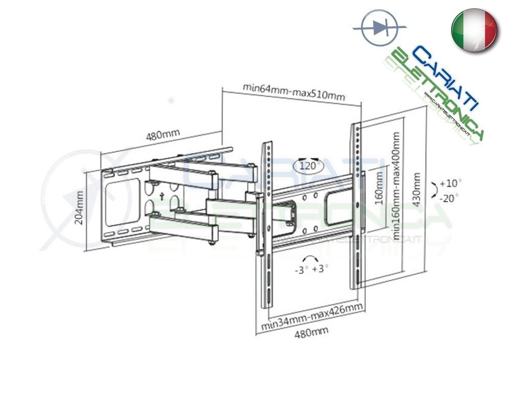 Porta Tv Lcd Da Muro.Maison Staffa Supporto Porta Tv Monitor Da 14324042465055 Parete
