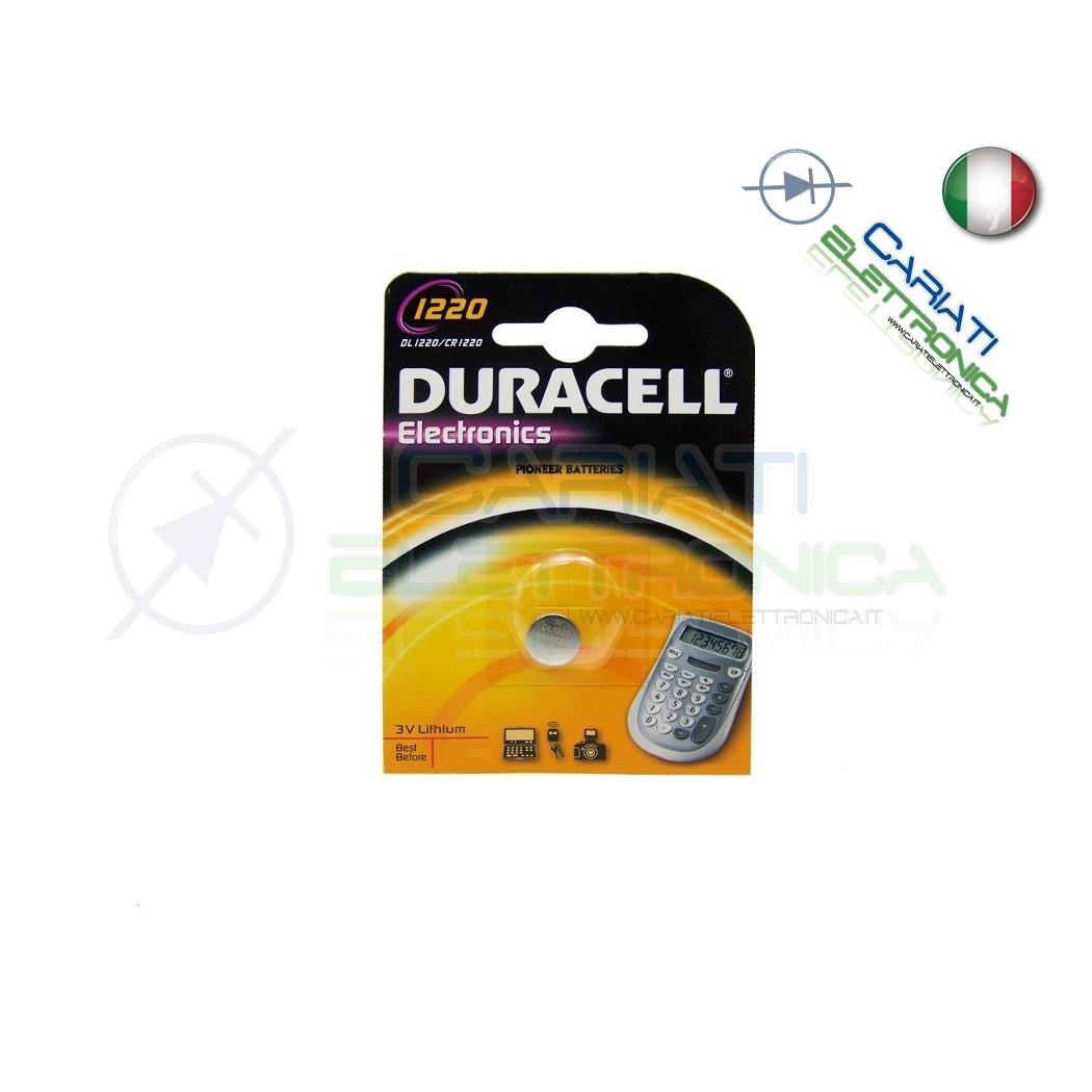 BATTERIA DURACELL DL1220 PILA A BOTTONE CR1220 3V 1220 Duracell