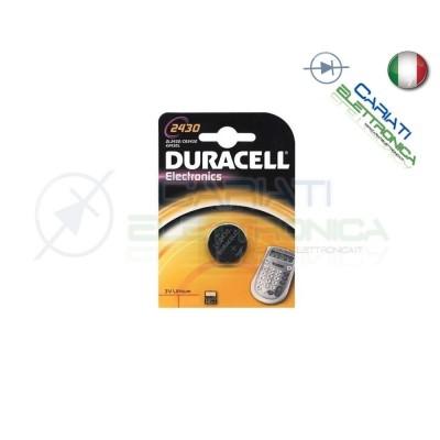 BATTERIA DURACELL DL2430 PILA A BOTTONE CR2430 2430Duracell