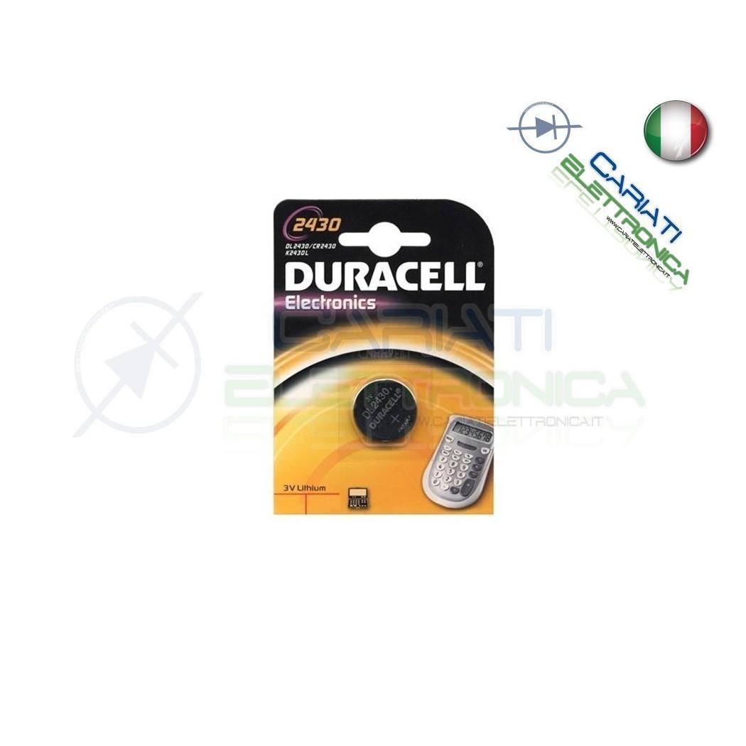 BATTERIA DURACELL DL2430 PILA A BOTTONE CR2430 2430 Duracell