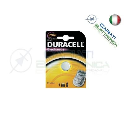BATTERIA DURACELL LITHIUM 2016 CR2016 CR 2016 DL2016 Duracell