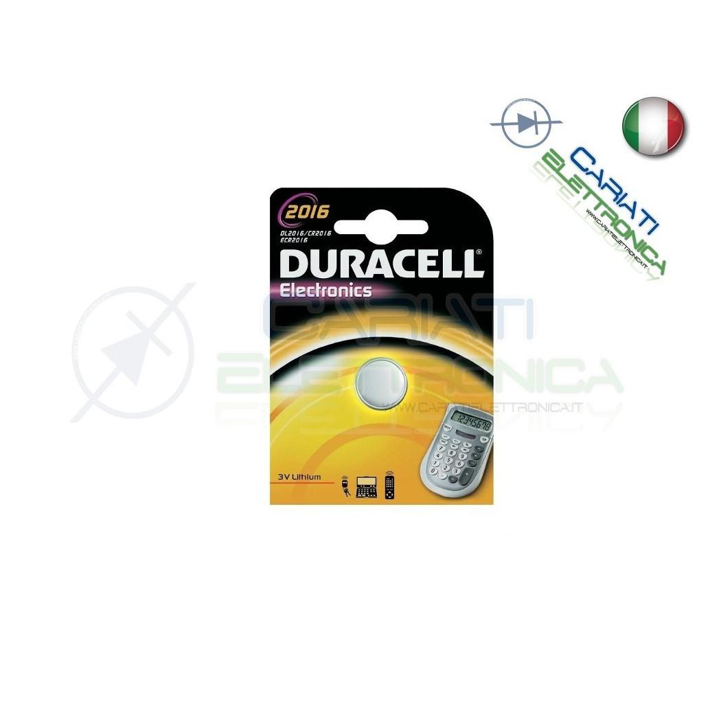 BATTERIA DURACELL LITHIUM 2016 CR2016 CR 2016 DL2016 Duracell 1,26€