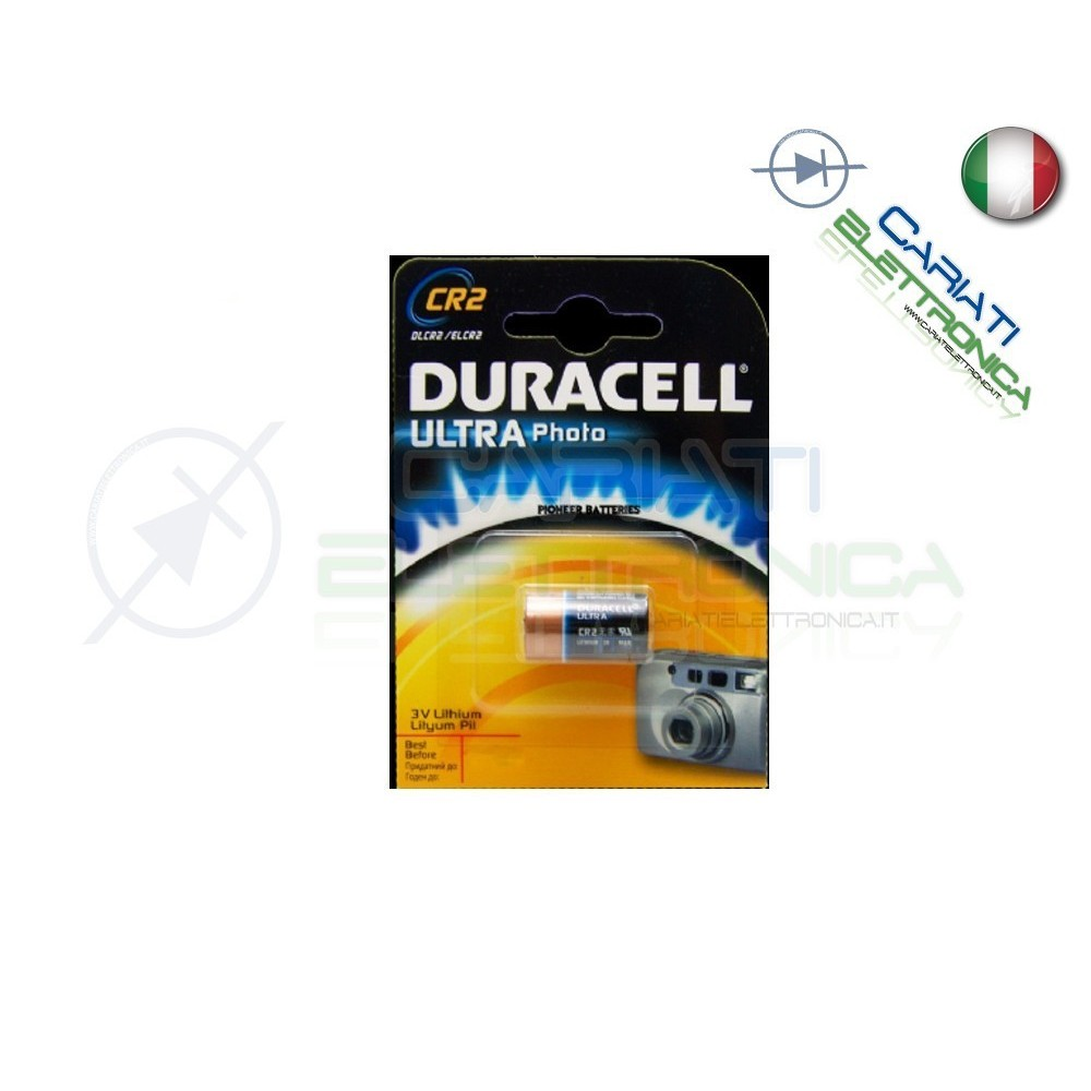 BATTERIA PILA DURACELL PHOTO ULTRA CR2 LITHIUM Duracell 2,79 €