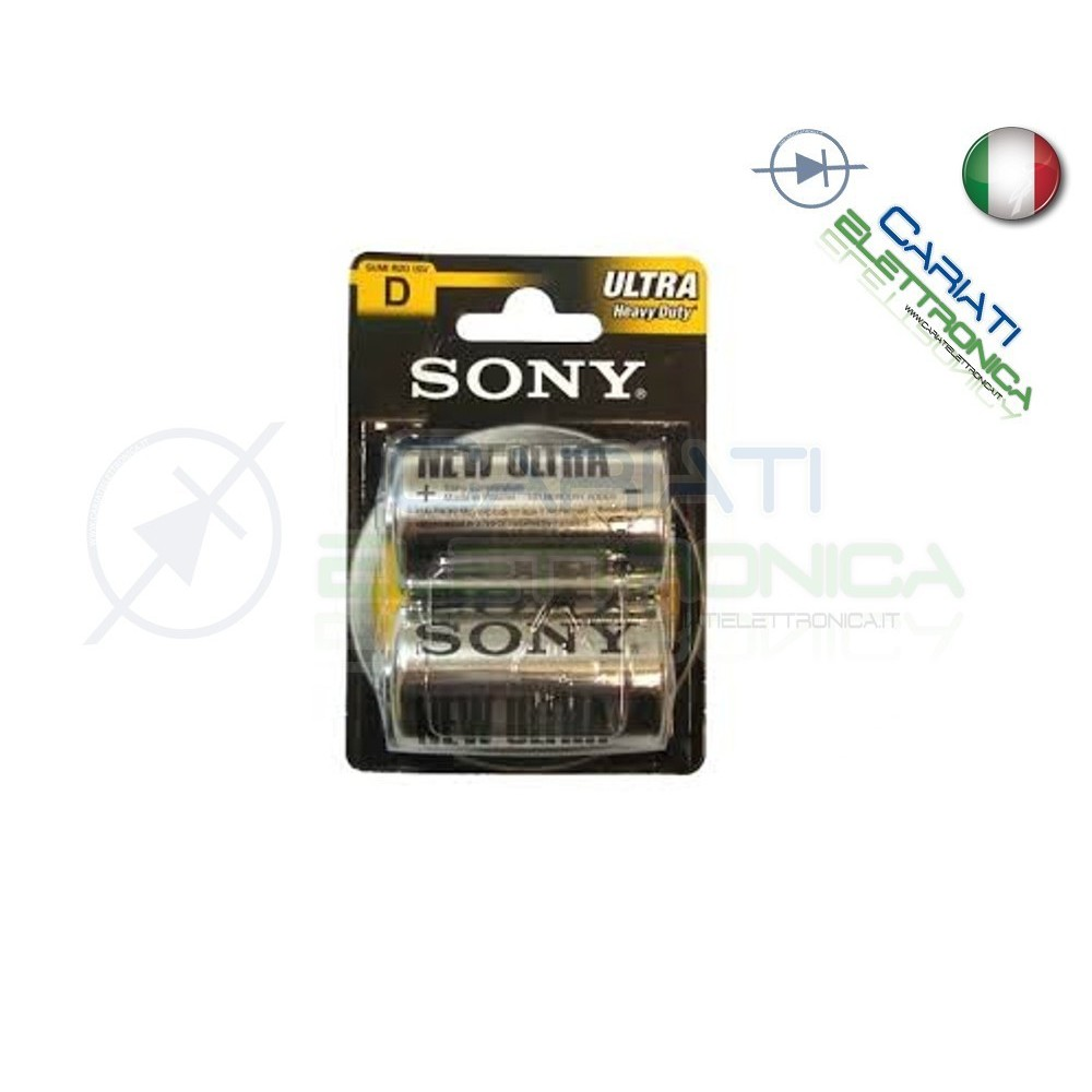 2 BATTERIE SONY TORCIA D ULTRA HEAVY DUTY R20 PILA 1.5 V Sony 1,30 €