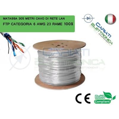 MATASSA 305 METRI 305M MT FTP CAT.6 SCHERMATA CAVO DI RETE LAN RAME GIGABIT 145,99 €