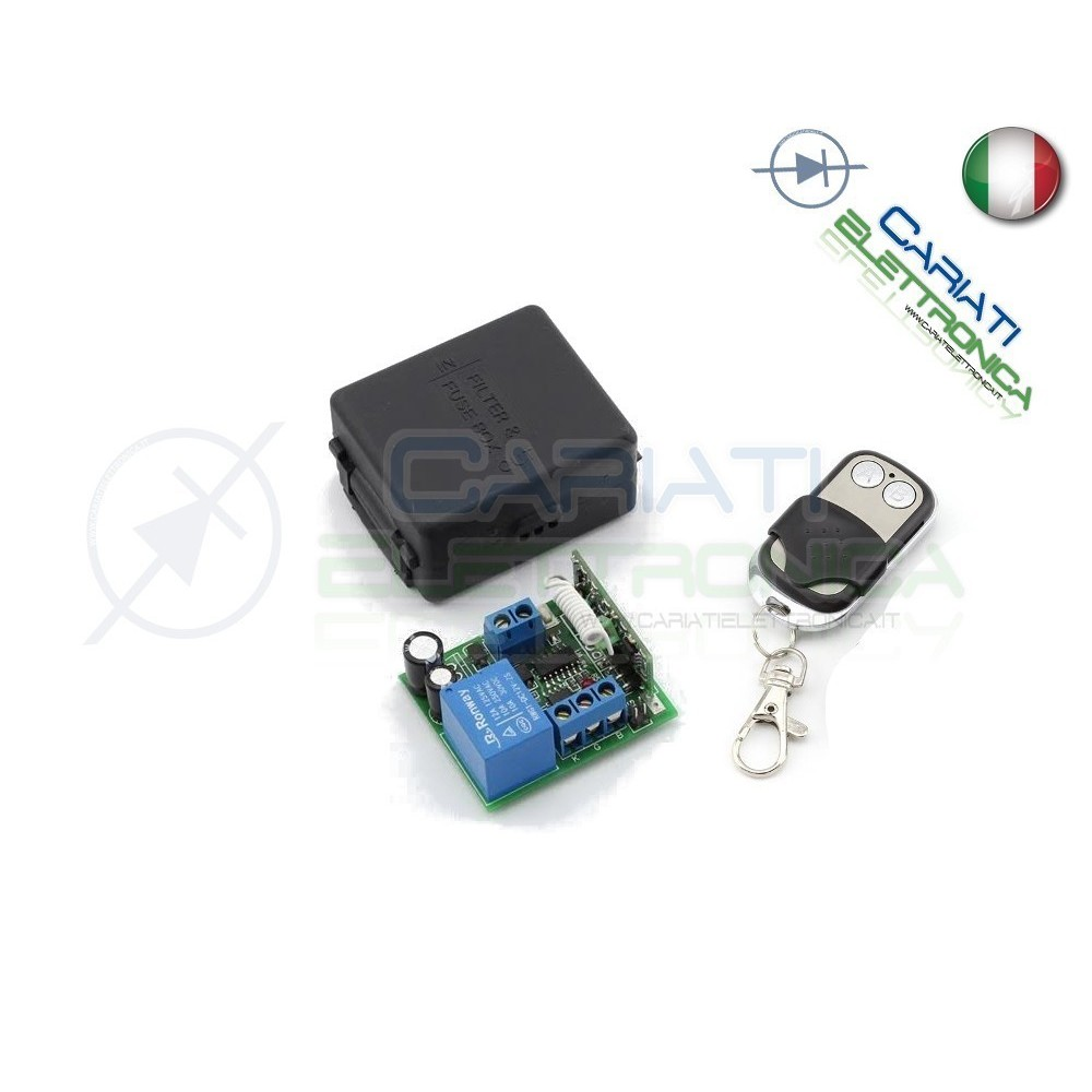 Scheda Ricevente Ricevitore 24V 433 Mhz 1 Relè Canale con Telecomando  14,50€