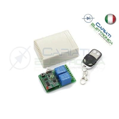 Scheda Ricevente Ricevitore 24V 433 Mhz 2 Relè Canali con Telecomando