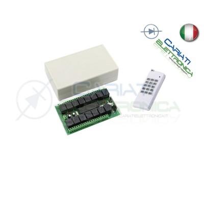 Scheda Ricevente Ricevitore 12V 433 Mhz 15 Relè Canali con Telecomando
