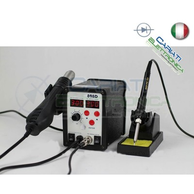 898D STAZIONE DIGITALE AD ARIA CALDA CON SALDATORE 2 IN 1 SALDANTE Guangzhou Yihua Electronic Equipment Co.,Ltd. 78,90 €