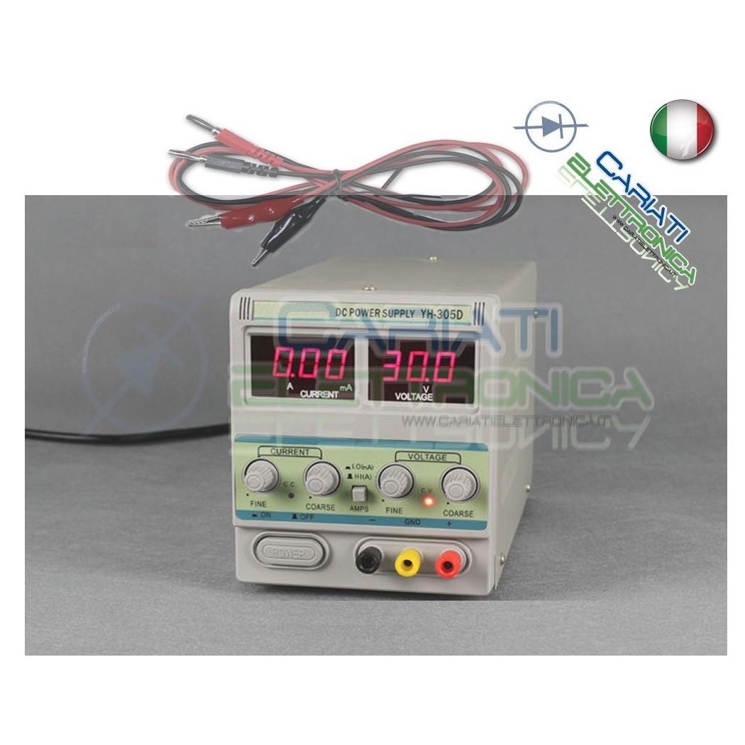 305D Alimentatore da banco variabile 0 - 30 V 5 A Stabilizzato