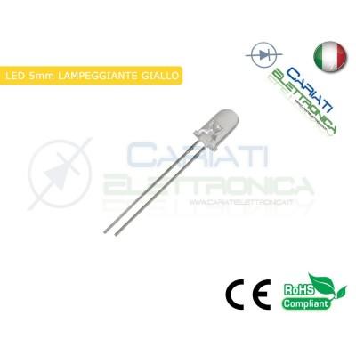 500 pz Led Lampeggianti Giallo Ambra 5mm 7000mcd Gialli