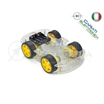 KIT Robot Car chassis piattaforma shield Arduino Pic 4 Ruote