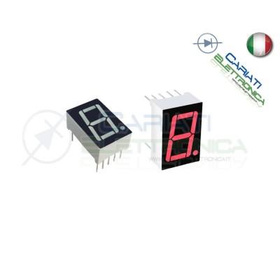 """1 Pezzo Display 0.56\\"""" 19mm 7 Segmenti Rosso Anodo Comune 1,00 €"""