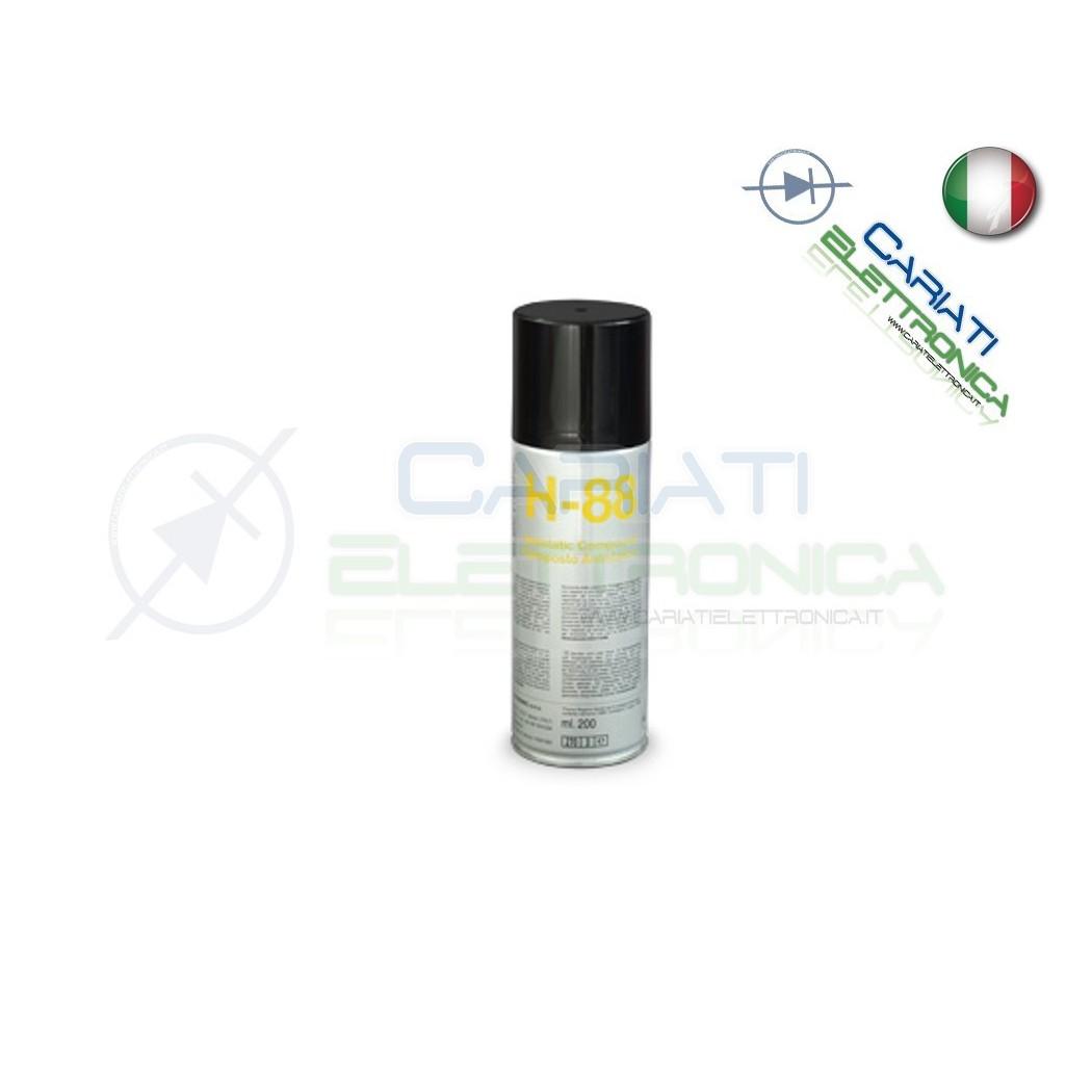 H-88 200 ml DUE-CI SPRAY COMPOSTO ANTISTATICO H88 ORIGINALE !!! Due-Ci