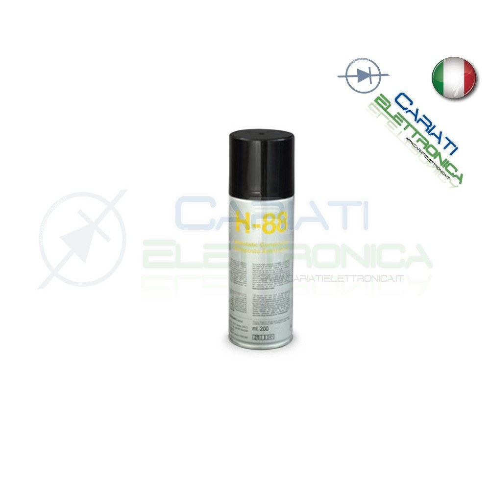 H-88 200 ml DUE-CI SPRAY COMPOSTO ANTISTATICO H88 ORIGINALE !!!  4,59 €