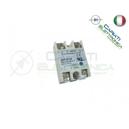 Relè Statico 50A 3-32Vdc 24-380Vac SSR-50 DA Stato Solido Relay