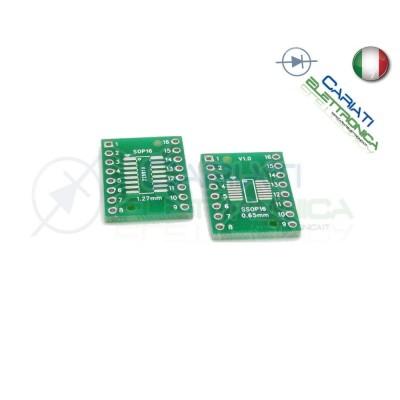 2 Pezzi Adattatore Basetta Test PCB SOP16 SO16 SOIC16 SMD a DIP16 16 Contatti