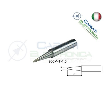 Punta 900M-T-1.6 stazione saldante stilo punte ricambio 1.6mm Guangzhou Yihua Electronic Equipment Co.,Ltd. 2,90 €