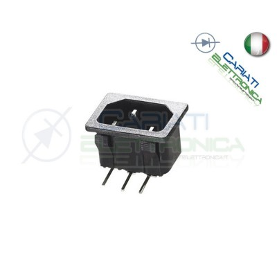 CONNETTORE ALIMENTAZIONE AC SPINA 10A MASCHIO DA PCB  1,00€