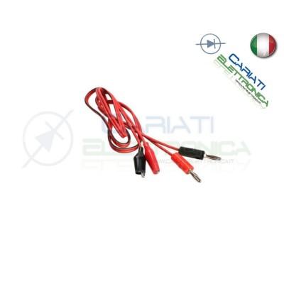 Cavo Cavetto Elettrico per Tester Test Alimentatore a Pinze Coccodrillo 2,00 €