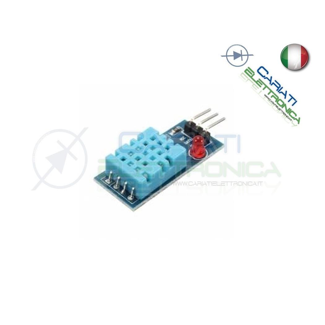 DHT11 SENSORE di TEMPERATURA e UMIDITA' ARDUINO CON PCB E LED  3,90€
