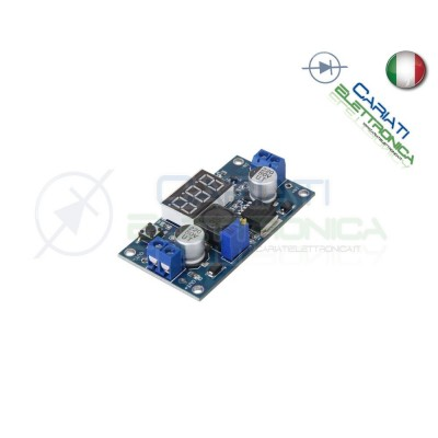 Convertitore regolabile STEP UP 3A DC DC LM2577S con Voltometro Display