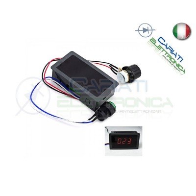 PWM Driver Motore Dimmer REGOLATORE di velocità giri 8A 6V 12V 24V con Display 19,50 €