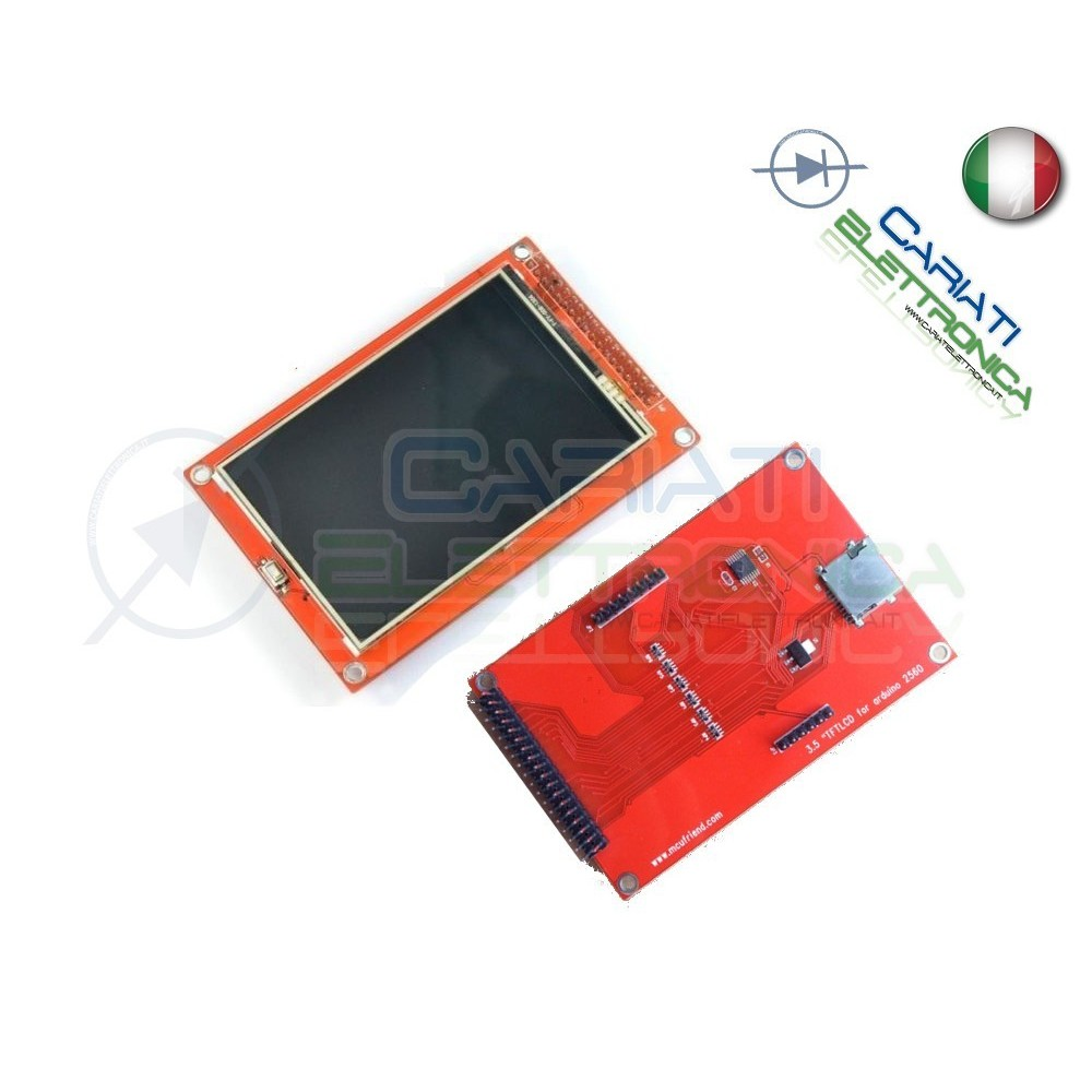 Display lcd grafico a colori 400X270 3.6 TFT con touch screen per Arduino Mega