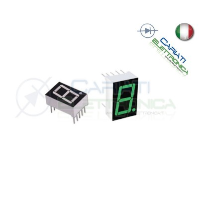 """1 Pezzo Display 0.56"""" 19mm 7 Segmenti Verde Anodo Comune  1,00€"""