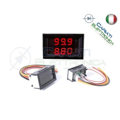 Amperometro Voltometro ROSSO da pannello 0-10A 0-100V tester Tensione Corrente