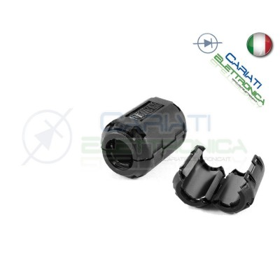 FILTRO FERRITE NERO PER CAVI ELIMINA INTERFERENZE DIAMETRO 13 mm