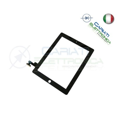 TOUCH SCREEN VETRO PER APPLE IPAD 2 SCHERMO NERO E ADESIVO 13,90 €