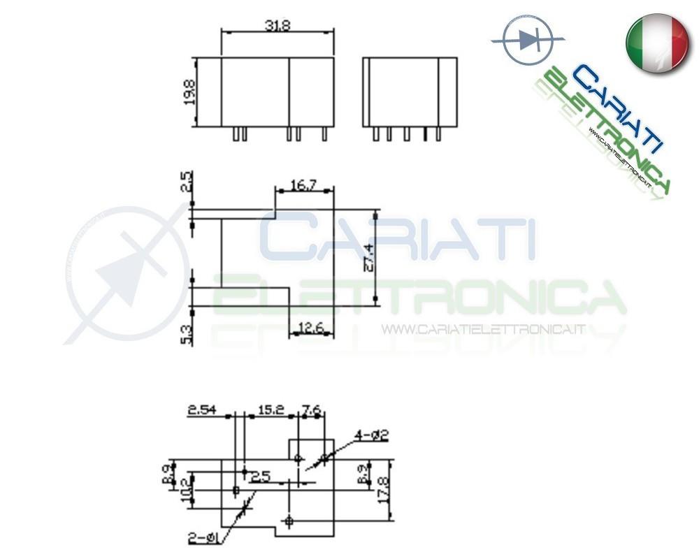 relay rel u00e8 12v dc 30a circuito stampato pcb sla