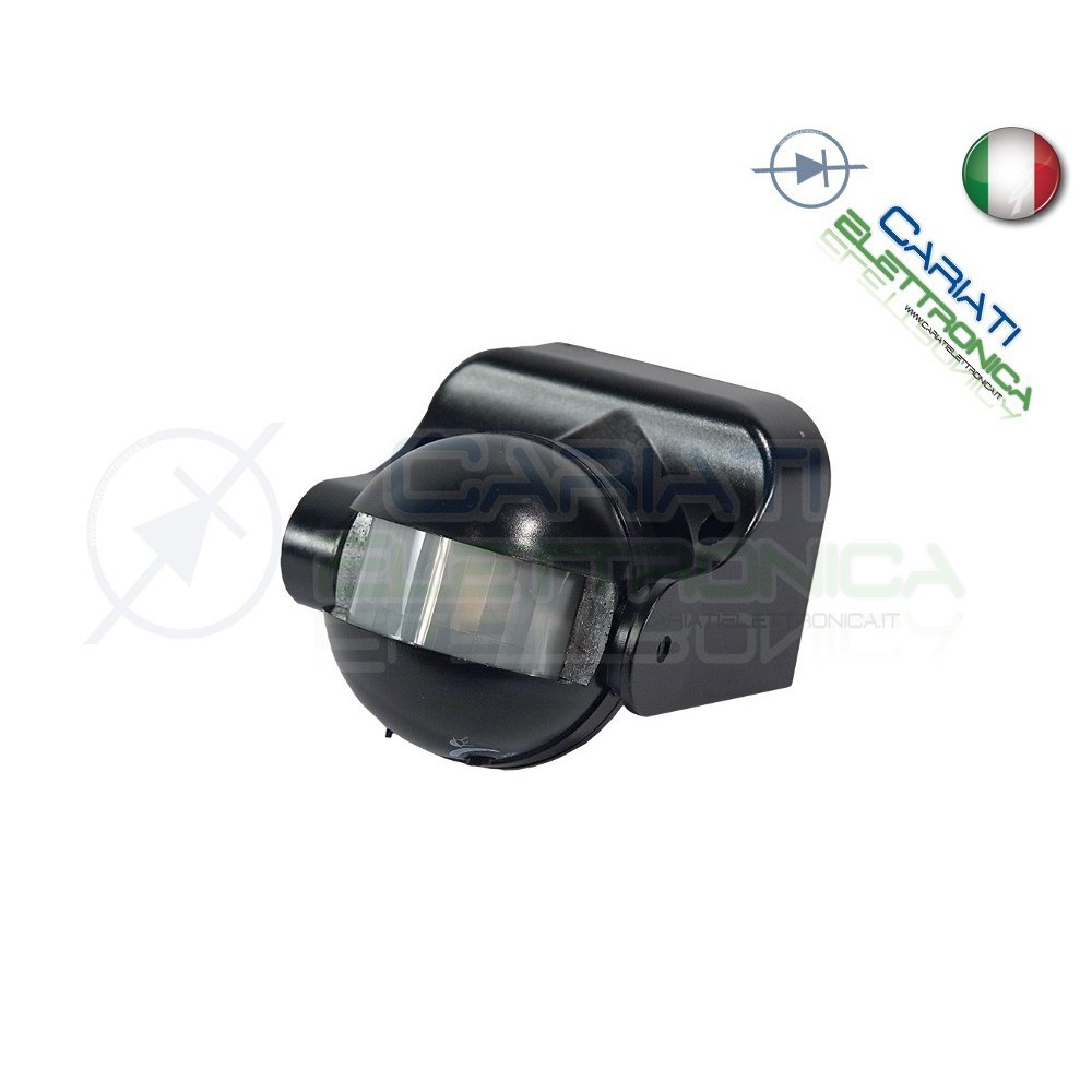 Sensore Per Accendere La Luce.Rilevatore Sensore Di Movimento Da Parete Luce Pir A 180 Accensio