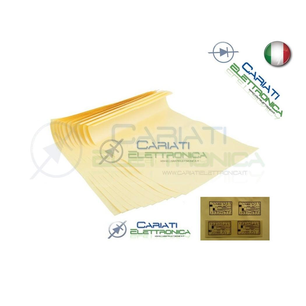 5 fogli A4 Press n peel basetta ramata circuiti stampati pcb senza bromografo  2,50€