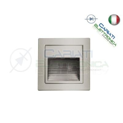 LED SEGNAPASSO SEGNA PASSO IN ACCIAIO CROMATO 1W 350ma IP22 BIANCO CALDO
