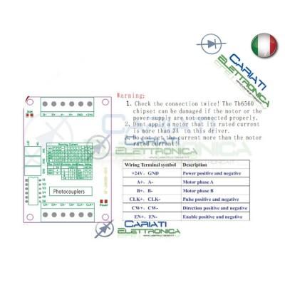 Driver 1 Asse Scheda TB6560 per Motori Passo Passo Stepper Cnc  9,09€