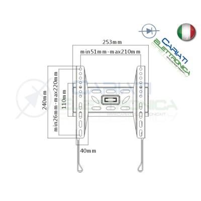 """SUPPORTO STAFFA TV LCD LED BASSO PROFILO DA 23 A 42 POLLICI 23"""" a 42""""  10,90€"""