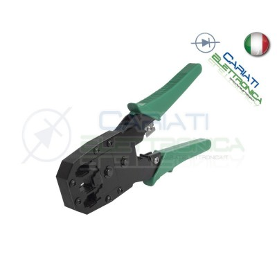 Pinza Crimpatrice per Cavi Lan Connettori Plug RJ45 RJ11 RJ12