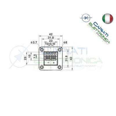 Morsettiera a Molla per Casse Audio Altoparlante Speaker 2 poli Generico