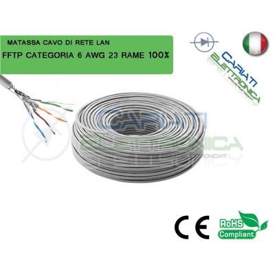 MATASSA 50 METRI STP SFTP FFTP CAT.6 SCHERMATA CAVO DI RETE LAN IN RAME