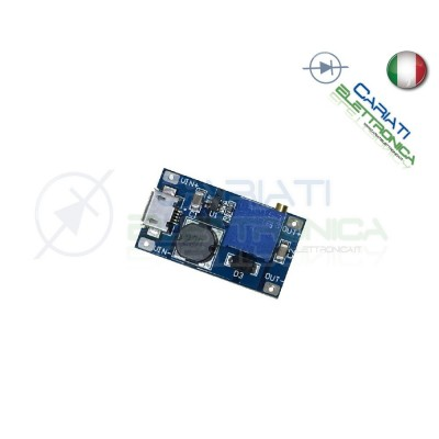 Mini regolatore Step-Up 28V 2A DC booster Arduino converter con USB  2,50 €